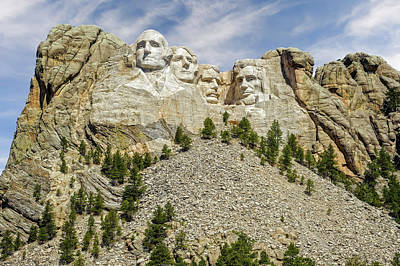 Photograph - Mount Rushmore National Memorial South Dakota  -  Mtrush006 by Frank J Benz