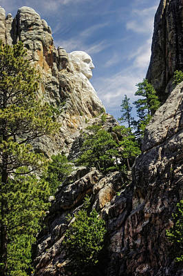 Photograph - Mount Rushmore National Memorial South Dakota  -  Mtrush007 by Frank J Benz