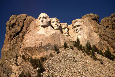 Mount Rushmore Photograph - Mount Rushmore National Monument by Art America Gallery Peter Potter