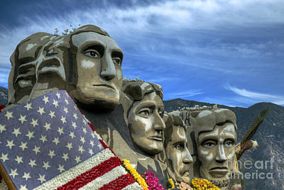 Photograph - Mount Rushmore Parade Float by David Zanzinger