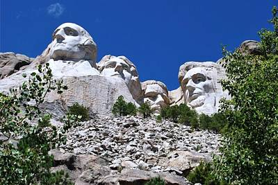 Photograph - Mount Rushmore Rocky View  by Matt Harang