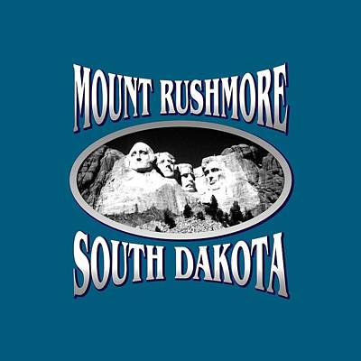 Mixed Media - Mount Rushmore South Dakota Design by Peter Potter