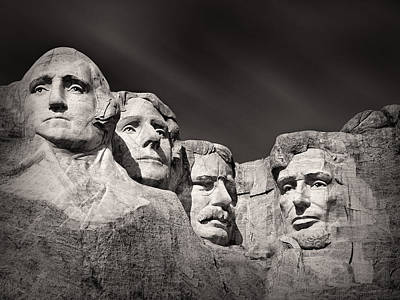 Stone Photograph - Mount Rushmore South Dakota Usa by Ian Barber