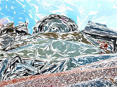 Photograph - Mount Saint Auto Crush by Stan  Magnan