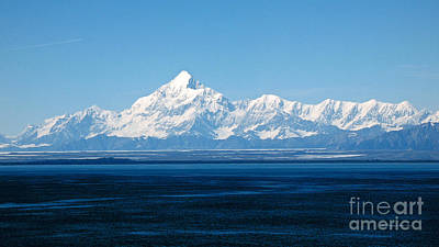 Photograph - Mount Saint Elias. Yakutat Bay Seascapes by Connie Fox