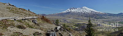 Photograph - Mount Saint Helens Near Johnston Ridge by Ansel Price