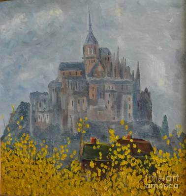 Painting - Mount Saint Michael by Rod Ismay