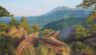 Mount Sanitas, Late Afternoon Original by Emily Olson