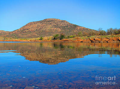 Photograph - Mount Scott Reflection by DS Dodd