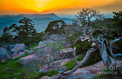 Wichita Photograph - Mount Scott Sunset by Inge Johnsson