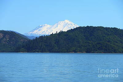 Photograph - Mount Shasta And Shasta Lake by Christiane Schulze Art And Photography