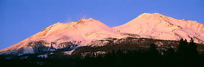 Snow-covered Landscape Photograph - Mount Shasta At Sunset, California by Panoramic Images