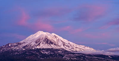 Photograph - Mount Shasta At Sunset by Loree Johnson