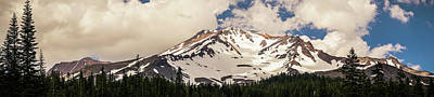 Photograph - Mount Shasta California Panorama by Lawrence S Richardson Jr