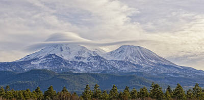 Lenticular Photograph - Mount Shasta Capped by Loree Johnson