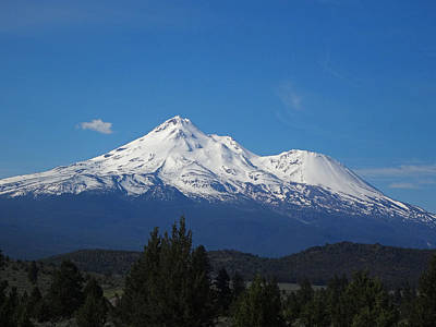 Photograph - Mount Shasta by Jacqueline  DiAnne Wasson
