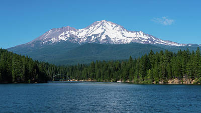 Photograph - Mount Shasta Over Lake Siskiyou California by Lawrence S Richardson Jr