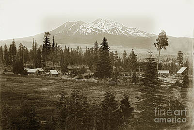 Photograph - Mount Shasta, Siskiyou County, California Circa 1901 by California Views Mr Pat Hathaway Archives