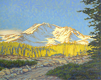 Mount Shasta Original by Tom Taneyhill