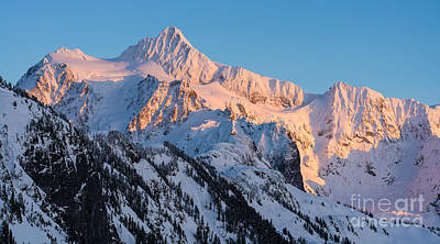 Whistler Photograph - Mount Shuksan Alpenglow by Mike Reid