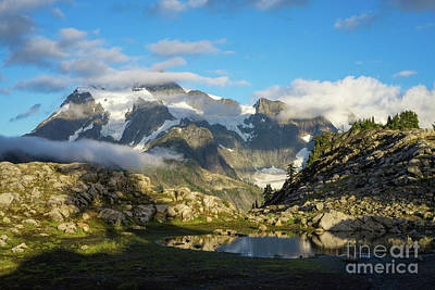 Photograph - Mount Shuksan Clouds Go By by Mike Reid