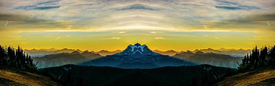 Mountain View Photograph - Mount Shuksan Sunrise Reflection 2 by Pelo Blanco Photo