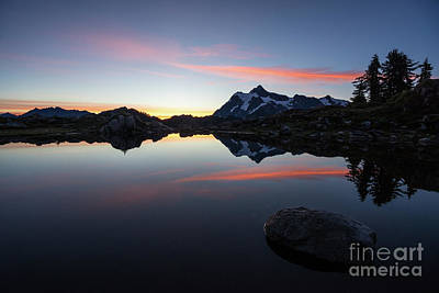 Photograph - Mount Shuksan The Rock And The Fire by Mike Reid