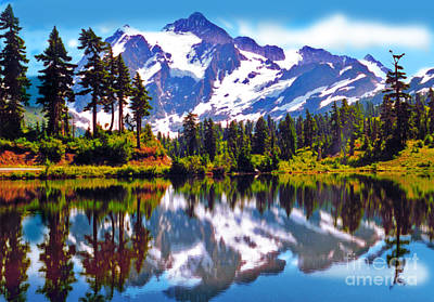 Mount Shuksan Washington Art Print by Laura Brightwood