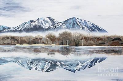 Misty Morning Painting - Mount Si - Washington State by Jordan Parker