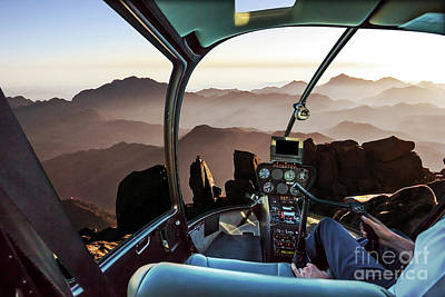 Photograph - Mount Sinai Helicopter by Benny Marty