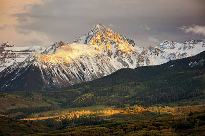 Photograph - Mount Sneffels Sunset by Johnny Adolphson