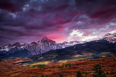 Mountain Royalty-Free and Rights-Managed Images - Mount Sneffels at Sunset by Andrew Soundarajan