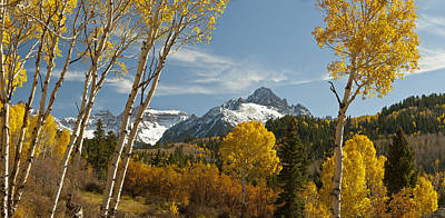 Mount Sneffels Autumn Panorama Art Print by Dusty Demerson