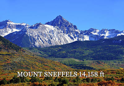 Photograph - Mount Sneffels Landscape by David Lee Thompson