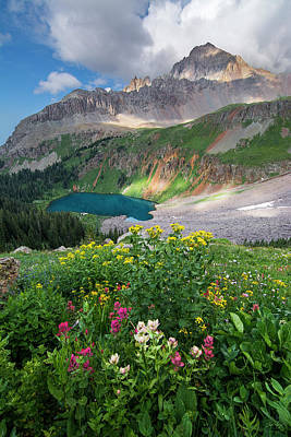 Photograph - Mount Sneffels Summer by Aaron Spong