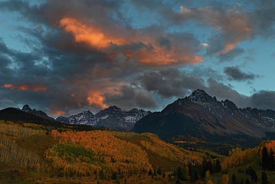 Photograph - Mount Sneffels Sunset During Autumn In Colorado by Jetson Nguyen