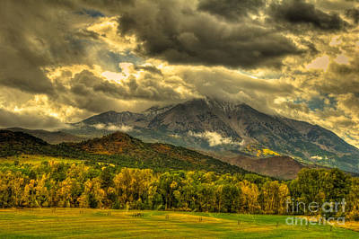 Mount Sopris Fall Morning After A Clearing Storm Art Print