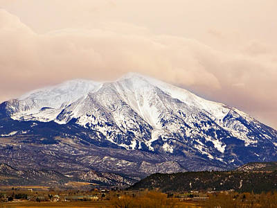 Mount Sopris Art Print by Marilyn Hunt