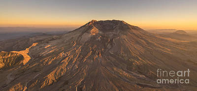 Photograph - Mount St Helens Aerial Dusk by Mike Reid