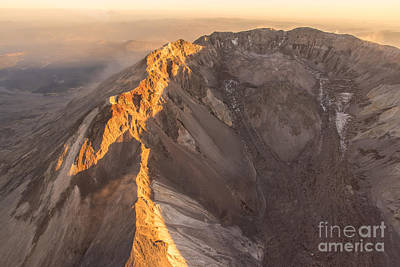 Photograph - Mount St Helens Crater Aerial by Mike Reid