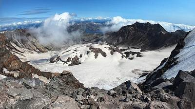 Photograph - Mount St Helens Crater by Brian Governale