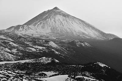Photograph - Mount Teide In Winter Monochrome by Marek Stepan