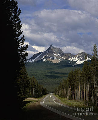 Photograph - Mount Thielsen And Hhighway 230  by Jim Corwin