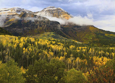 Photograph - Mount Timpanogos In Autumn by Douglas Pulsipher