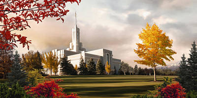 Lds Painting - Mount Timpanogos Temple #2 by Brent Borup