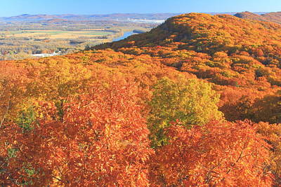 Photograph - Mount Tom Goat Peak Fall Foliage by John Burk