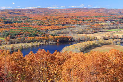Photograph - Mount Tom View Of Oxbow In Autumn by John Burk