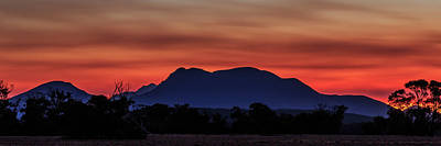 Photograph - Mount Trio Sunset by Robert Caddy