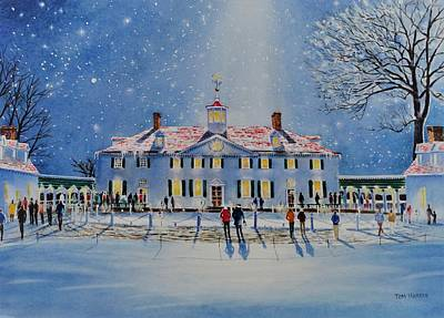 Mount Vernon Painting - Mount Vernon By Candle Light II by Tom Harris