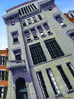 Brownstone Painting - Mount Vernon Street by Mike Gruber